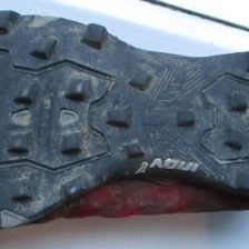 The tread pattern. Lots of Grip for mud.